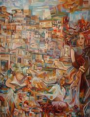 La spensieratezza del fanciullo, tecnica mista su tela, 80×100, 2008