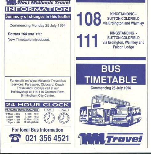 west midlands travel timetable | Myvacationplan org