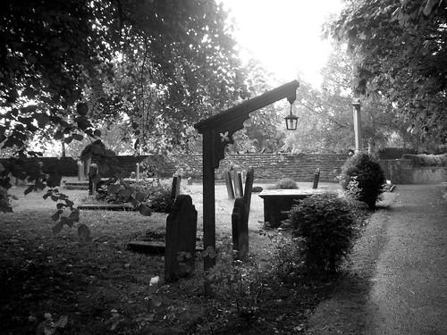 A lantern in Scalby churchyard