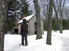 Reproduction of Thoreau's hut