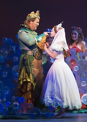 Fred Inkley as King Triton and Alison Woods as Ariel in Disney's The Little Mermaid presented by Broadway Sacramento at the Community Center Theater Feb. 2-7, 2016. Photo by Bruce Bennett, courtesy of Theatre Under The Stars.