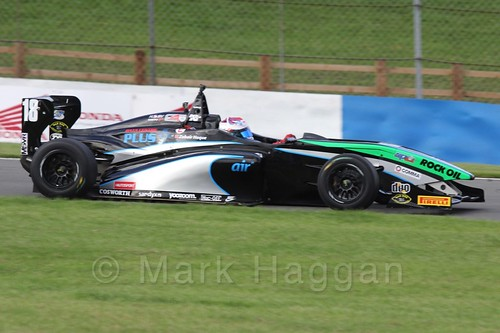 Sean Walkinshaw Racing's Zubair Hoque in BRDC F4 Race 3 at Donington Park, September 2015