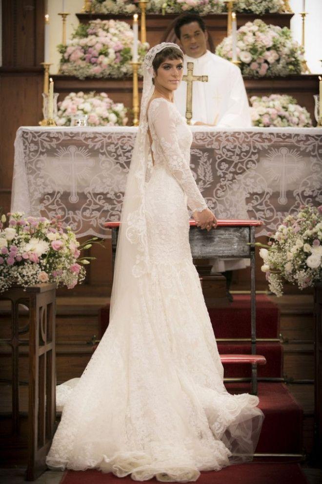 Vestido de noiva de Letícia em 'A Lei do Amor' custou R$ 50 mil