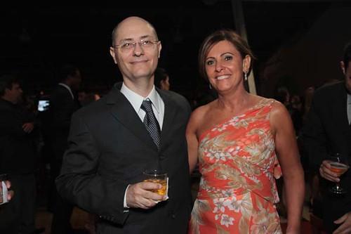 O então presidente do clube, Cristiano Lana e Ana Lúcia