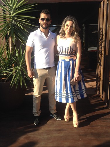 Jéssica com o namorado, Caio Faioli