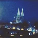 Saint Mary at Luebeck at Night