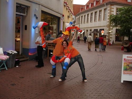 Niederländer 30min. vor dem Spiel