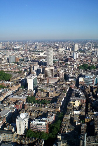 a view from BT tower