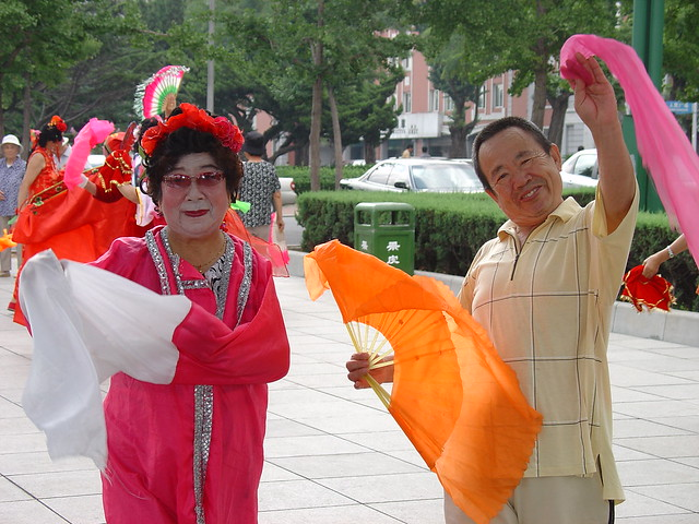 Dancers in Renmin Square, Dalian