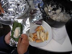 gateau de riz + banane + coco