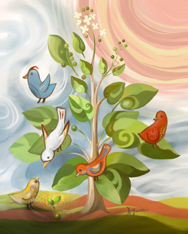 illustration for the angel heart magazine