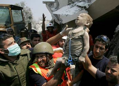 A precious child of God. Lebanon 2006, AP photo