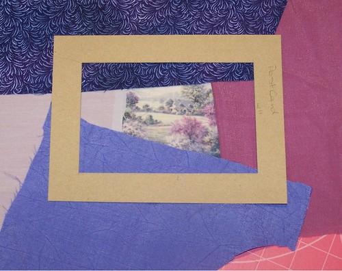 Crazy Quilting Postcard - Tutorial - Step 1