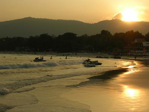 Atardecer en Chaweng Beach