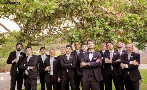 Convidados fazem pose para Valéria Mattos