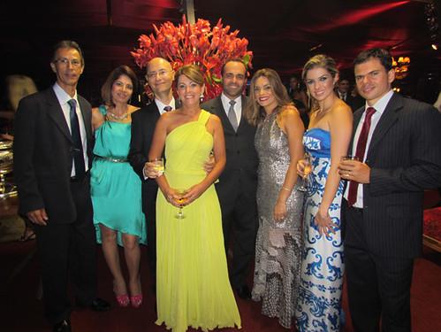 Ana Lúcia e Cristiano Lana com seus diretores no CMP