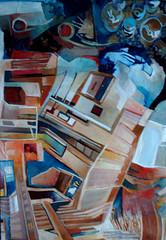 Senza titolo, tecnica mista su tavola, 30×50 2007