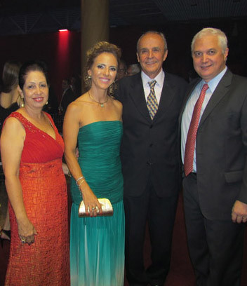 Lelena Almeida, Denise e Maurício Coelho e Marcelo Charas