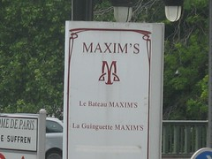 Maxim's, Paris, France