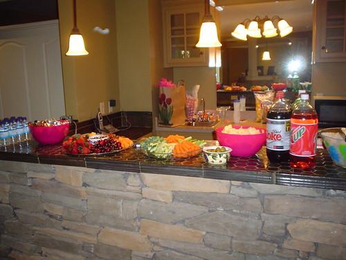 Bachelorette party food by rlj.