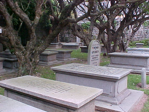 Morrison's grave is in the back corner.