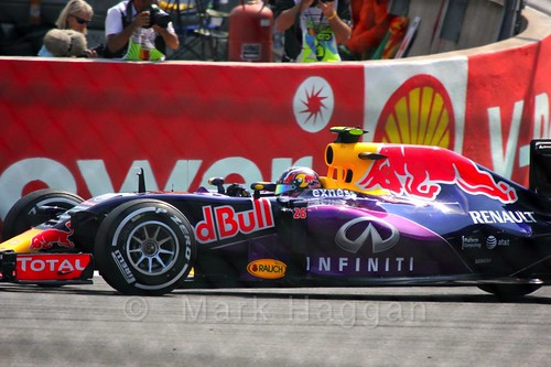 Daniil Kvyat qualifying for the 2015 Belgium Grand Prix