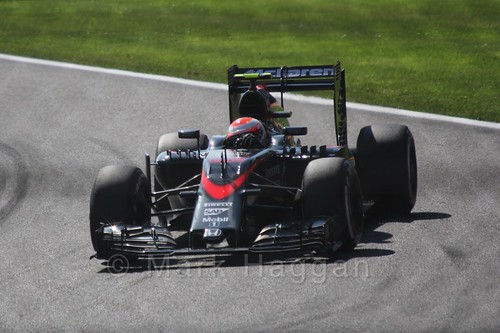 Jenson Button in Free Practice 3 for the 2015 Belgium Grand Prix