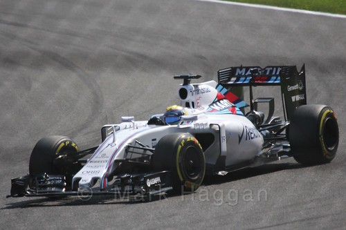 Felipe Massa in qualifying for the 2015 Belgium Grand Prix