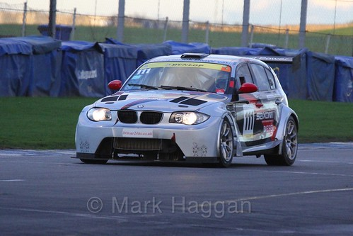 The BMW 135D GTR of Martin Gibson and Ellis Hadley in Endurance Racing during the BRSCC Winter Raceday, Donington, 7th November 2015