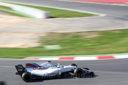 Felipe Massa in his Williams in Formula One Winter Testing 2017