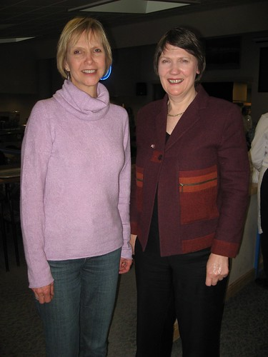 Diana Wall and Helen Clark