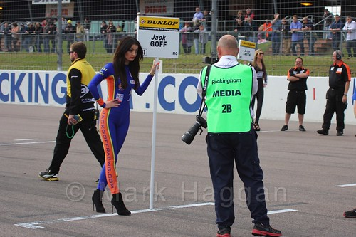 Jack Goff's BTCC grid board at Rockingham 2015