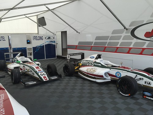 JHR Developments Garage at Rockingham 2015 for MSA Formula