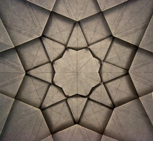 Octagonal Star Geometric Progression, (backlit) 3 of 3
