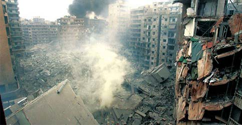 Beirut Bombed 2006 AP photo