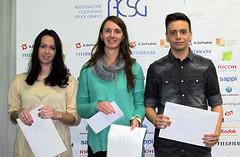 I vincitori del Primo Premio con la loro professoressa