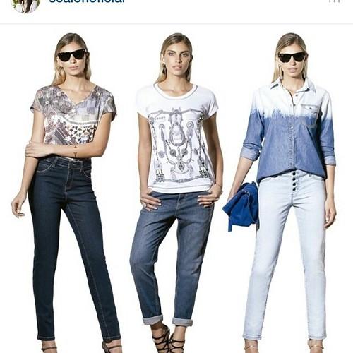 Chegaram as calças jeans da Scalon