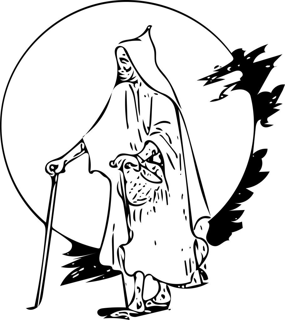 Tunisian man sjrankin tags man tunisia robe edited library grayscale britishlibrary vectorized 2december2015
