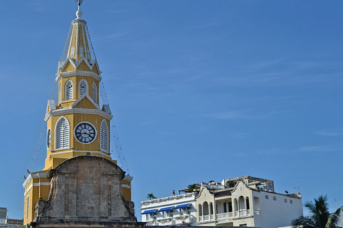 The clock tower (Cartagena - Colombia)