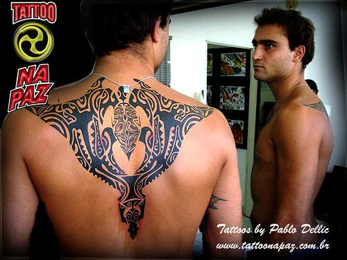Tatuagem polinesia,backpiece Polynesien Tattoo