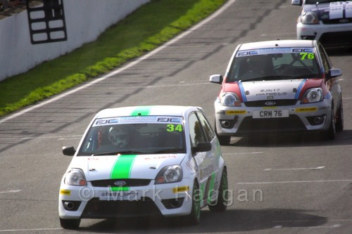 Michael Higgs in Fiesta Junior Championship, Brands Hatch, 2015