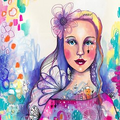 This lesson went live on Life Book 2018 this week, yay! :) I LOVED creating this lesson! I've been exploring combining figurative art with abstract and loved the outcome! This lesson is themed around Honouring Your Story (Tell your story, your story matte