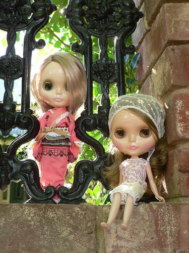 ladies at the gate by elysiarenee