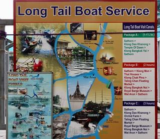 Water taxi route, Bangkok