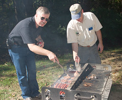 "CRW_0014: Pete/KG4OJT and Tom/N4ZPT Tend the Grill • <a style=""font-size:0.8em;"" href=""http://www.flickr.com/photos/54494252@N00/11047308/"" target=""_blank"">View on Flickr</a>"