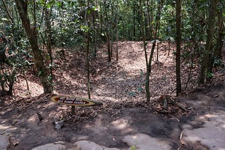 Bomb crater, Cu Chi tunnels