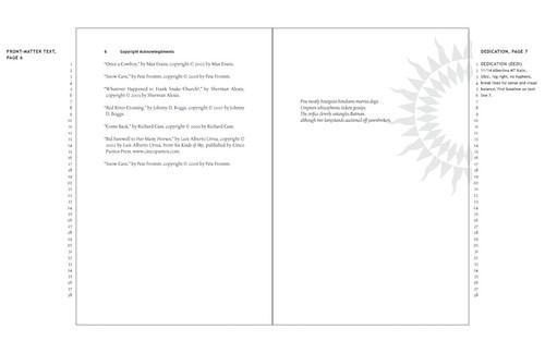 sample layout - dedication