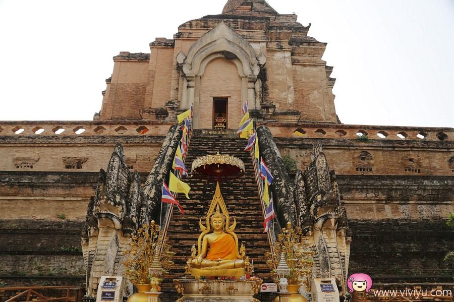 Wat Chedi Luang,柴迪隆寺,泰國景點,泰國清邁,清邁旅遊,清邁景點 @VIVIYU小世界