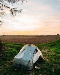Day 737 - In northern Germany I was camping mostly in forests. Now it's farms or just patches of woods. Lately, I've been sleeping better exposed on the edge of a farm than hidden in the forest. It feels more honest. I imagine if someone sees my tent they