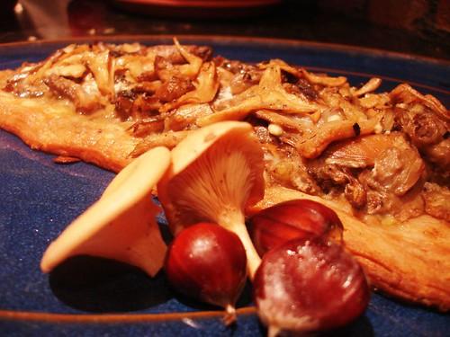 Mushroom and Wild Chestnut Tart